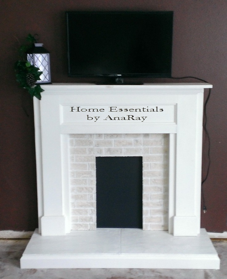 Ana white faux fireplace diy projects for Faux fini meuble