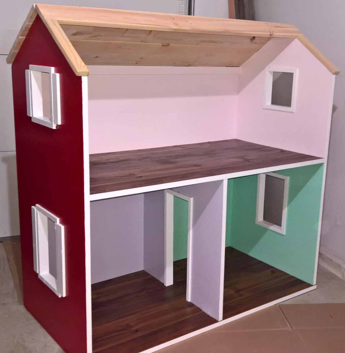 Ana white 2 story american girl dollhouse diy projects for Dollhouse building plans free