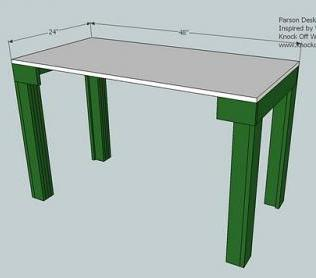 build a simple desk - Design Decoration