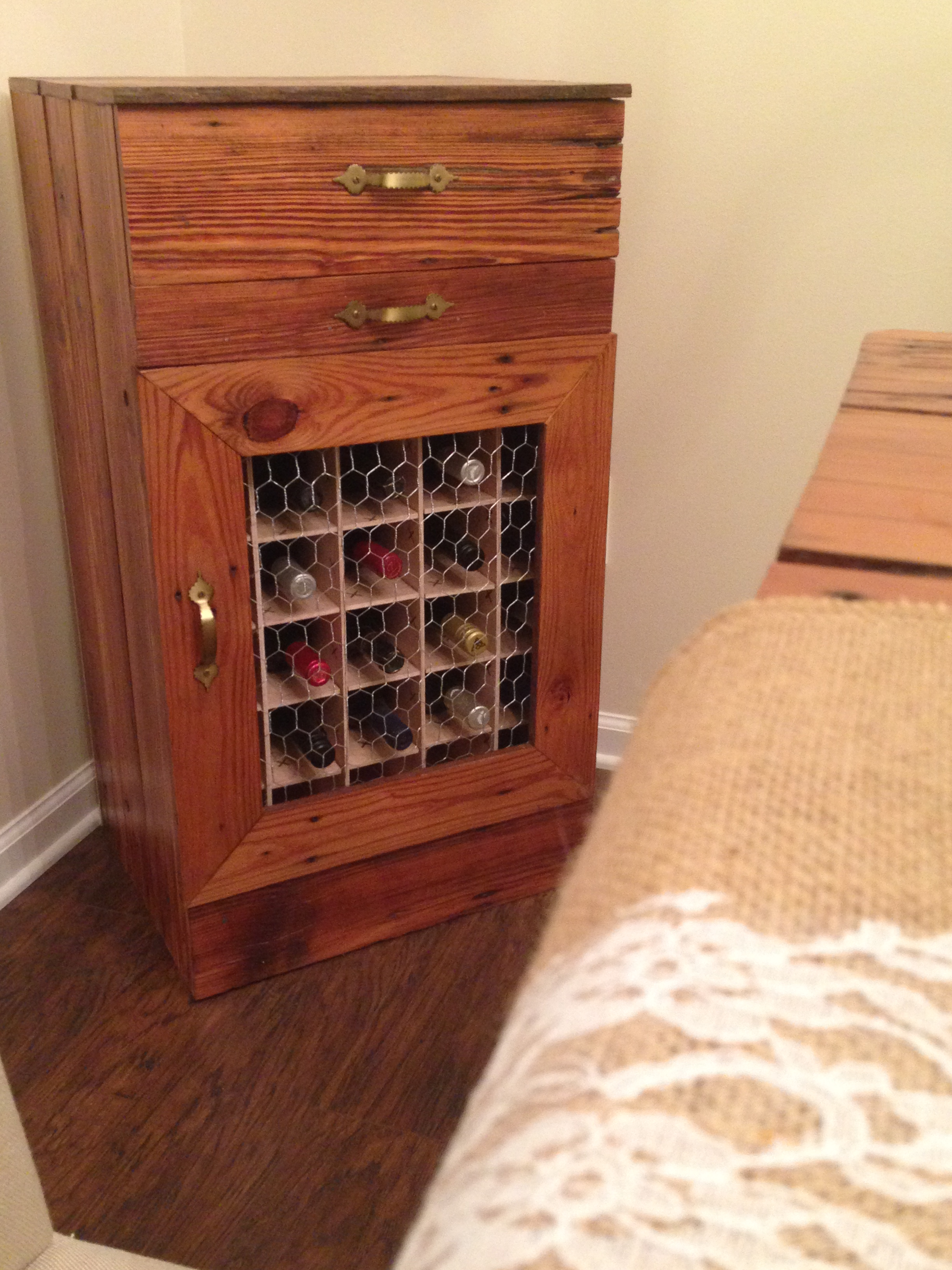 Do It Yourself Home Design: Wine Cabinet From Barn Boards - DIY Projects