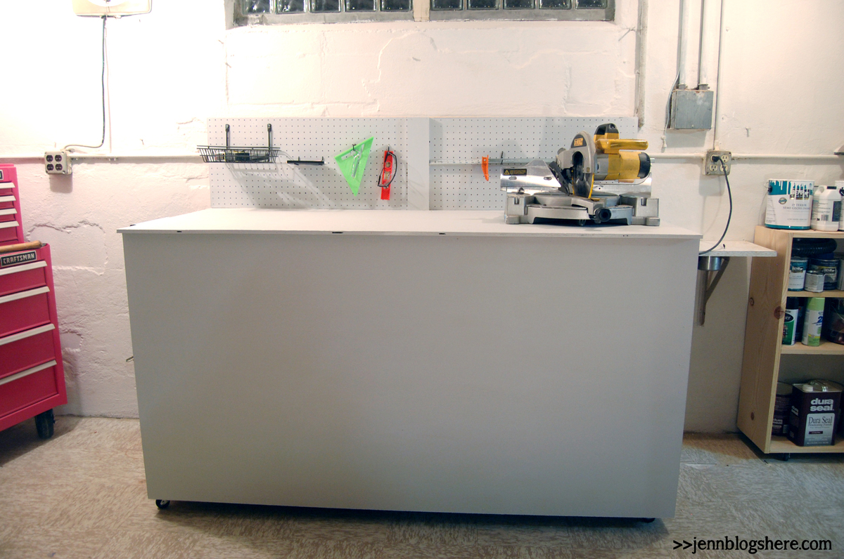 ana white tall workbench with wood storage diy projects work