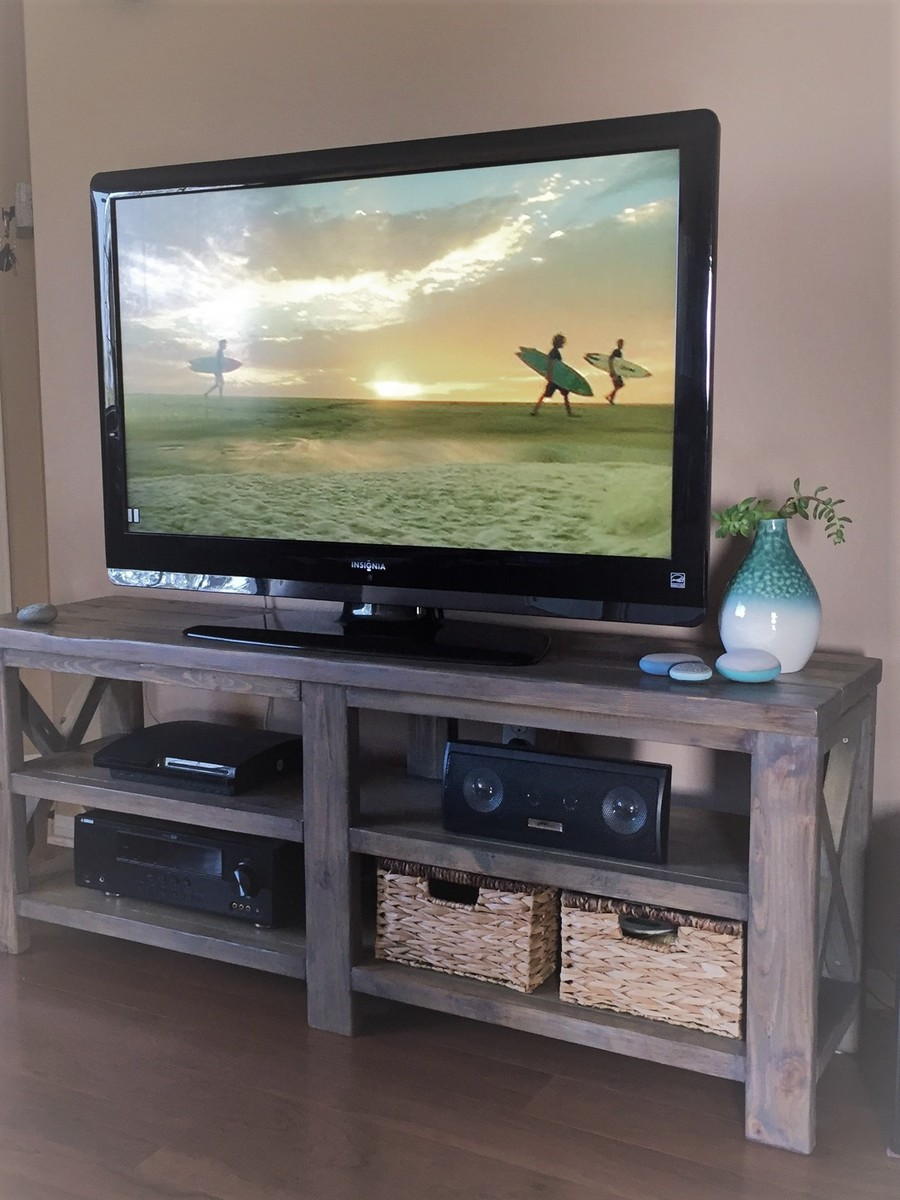 Ana White Faux Driftwood Finish Media Console Diy Projects