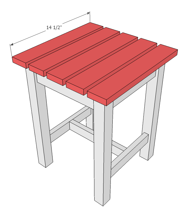 Ana White Adirondack Stool Or End Table Diy Projects