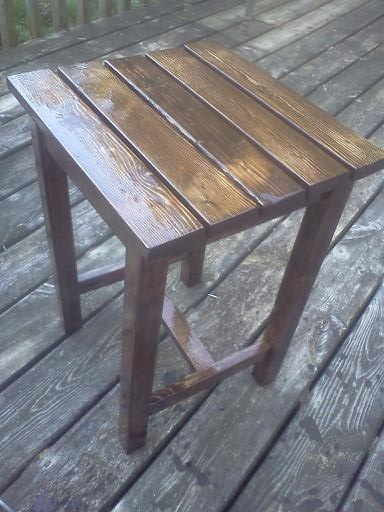 Ana white adirondack stool or table diy projects for Adirondack side table plans