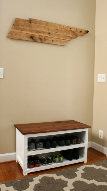Adjustable Shoe Storage Bench Tall Shot