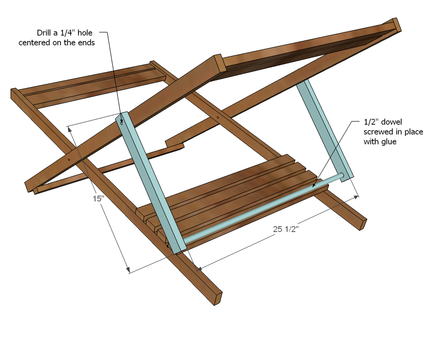 Ana White | Build a Wood Folding Sling Chair, Deck Chair or Beach ... : How To Make A Wood Chair Frame For Kids