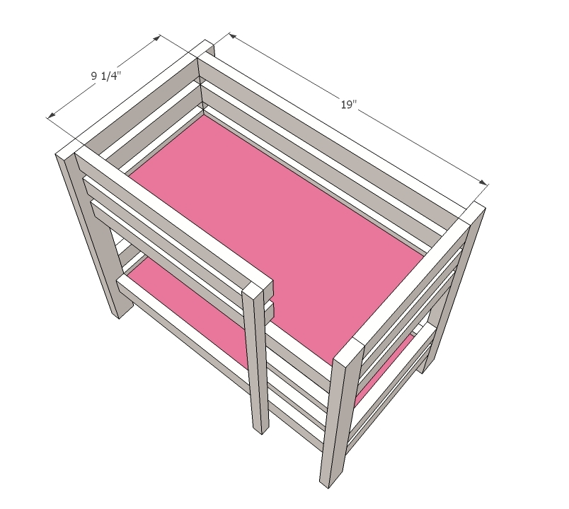 Doll Bunk Beds For American Girl Doll And 18 Doll Ana White