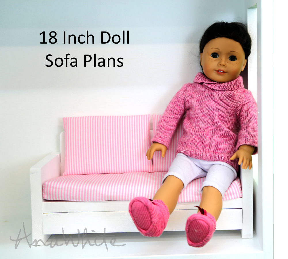 Ana white american girl or 18 doll sofa or couch plans diy projects solutioingenieria Images