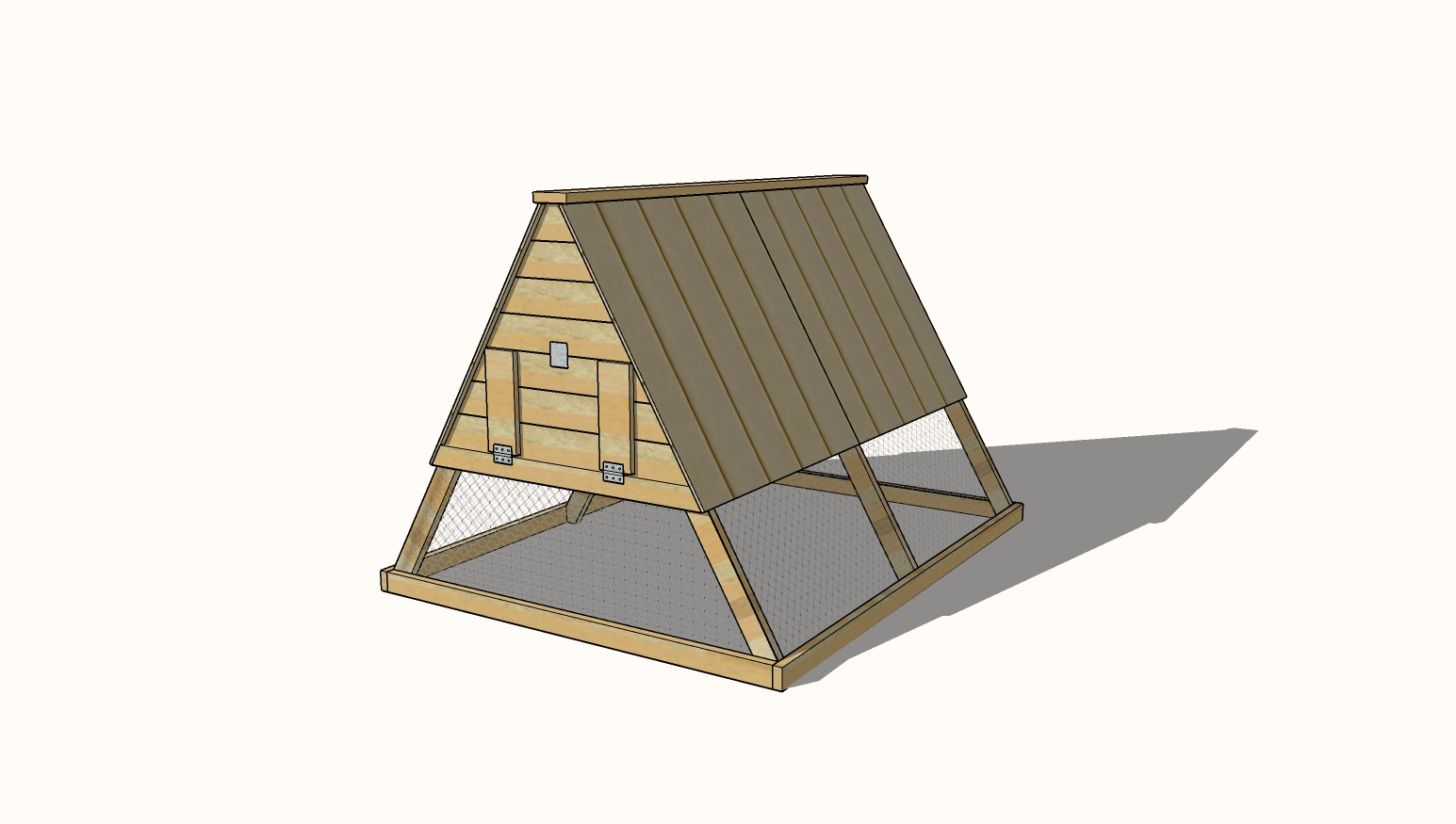 A Frame Chicken Coop free plans
