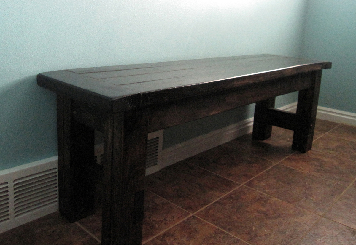 Our Farmhouse Table, Bench And Bar Stools