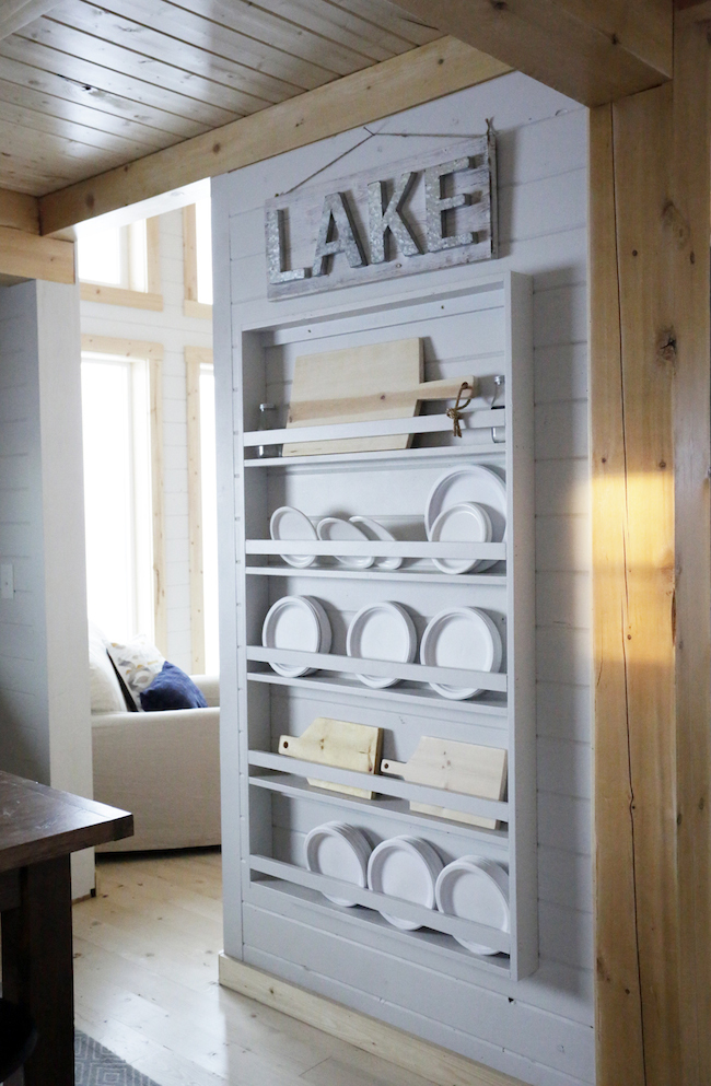 & Ana White | Full Length Plate Rack for Our Cabin - DIY Projects