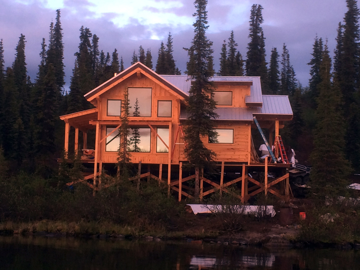 Win a alaska dream vacation to our cabin ana white for Cabin builders alaska