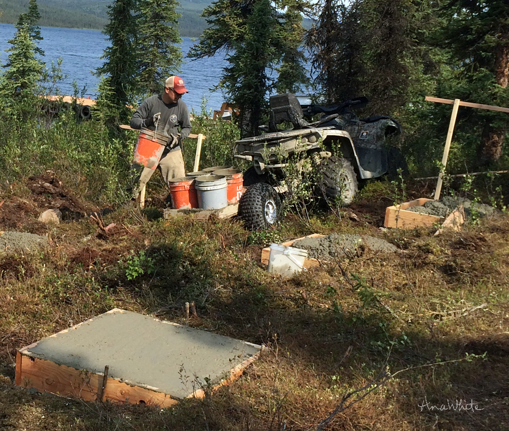 Behind the scenes of our alaska lake cabin build ana for Building a cabin in alaska