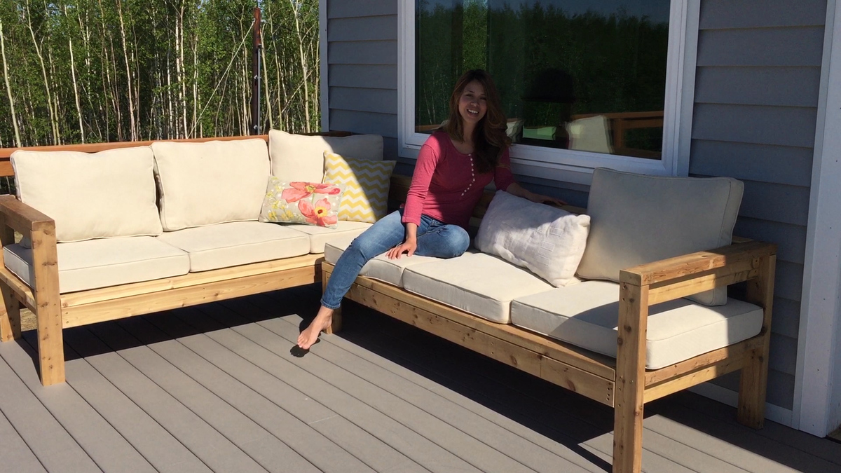 Ana white one arm outdoor sectional piece diy projects for Build your own couch cheap
