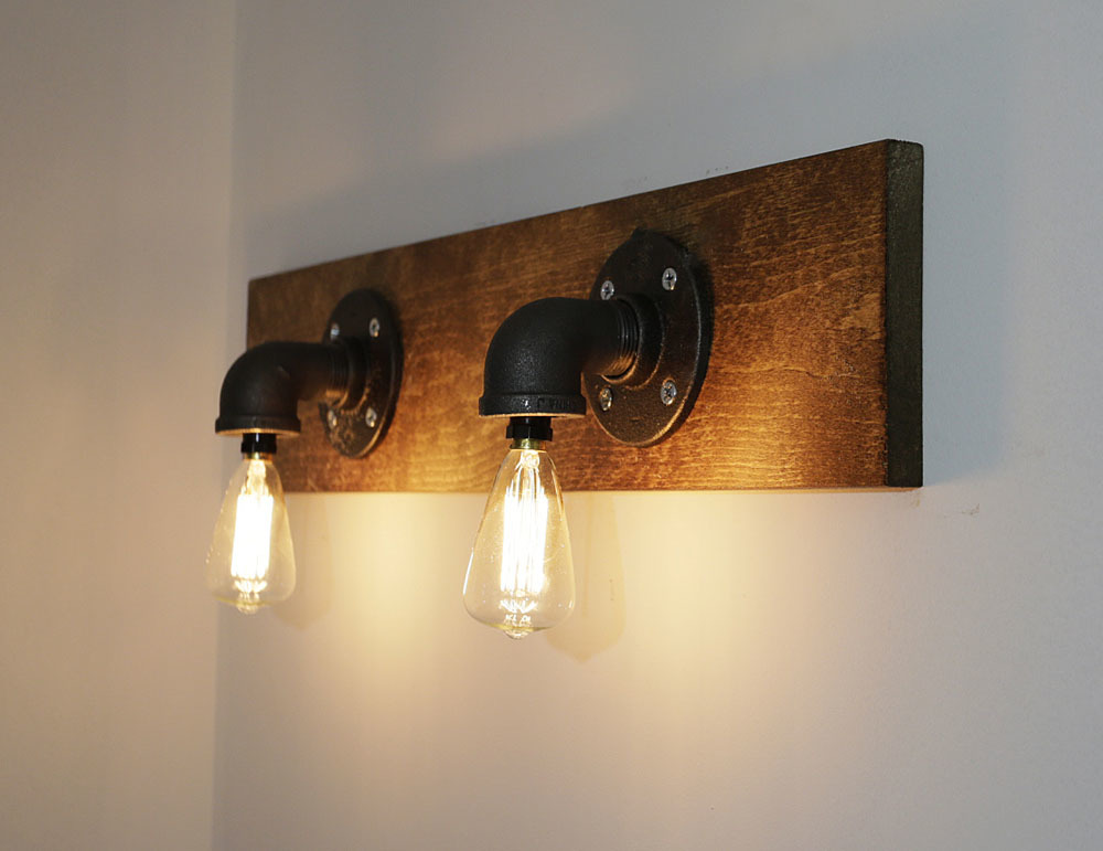 EASY Industrial Wood Pipe Light