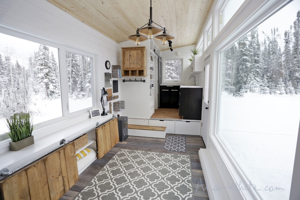 open concept rustic modern tiny house photo tour and sources | ana