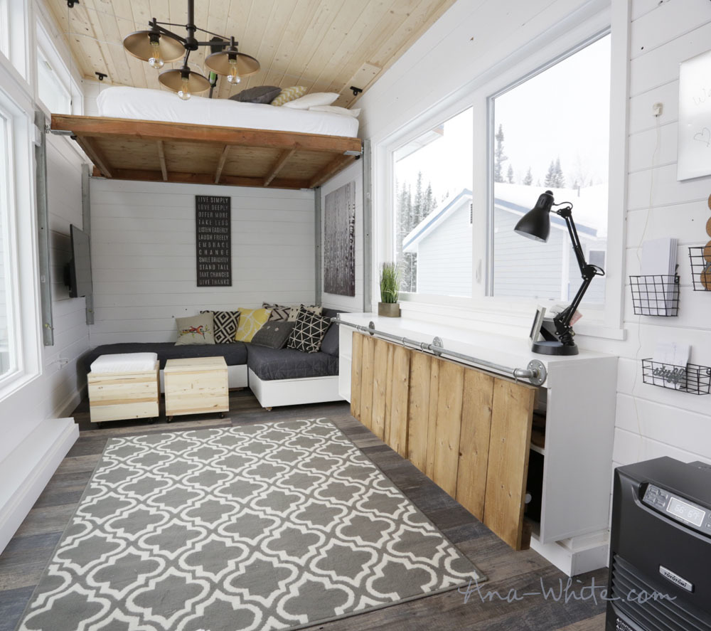 tiny house furniture. Storage That Converts To Tables With Fold Up Doors By Ana White Tiny House Furniture