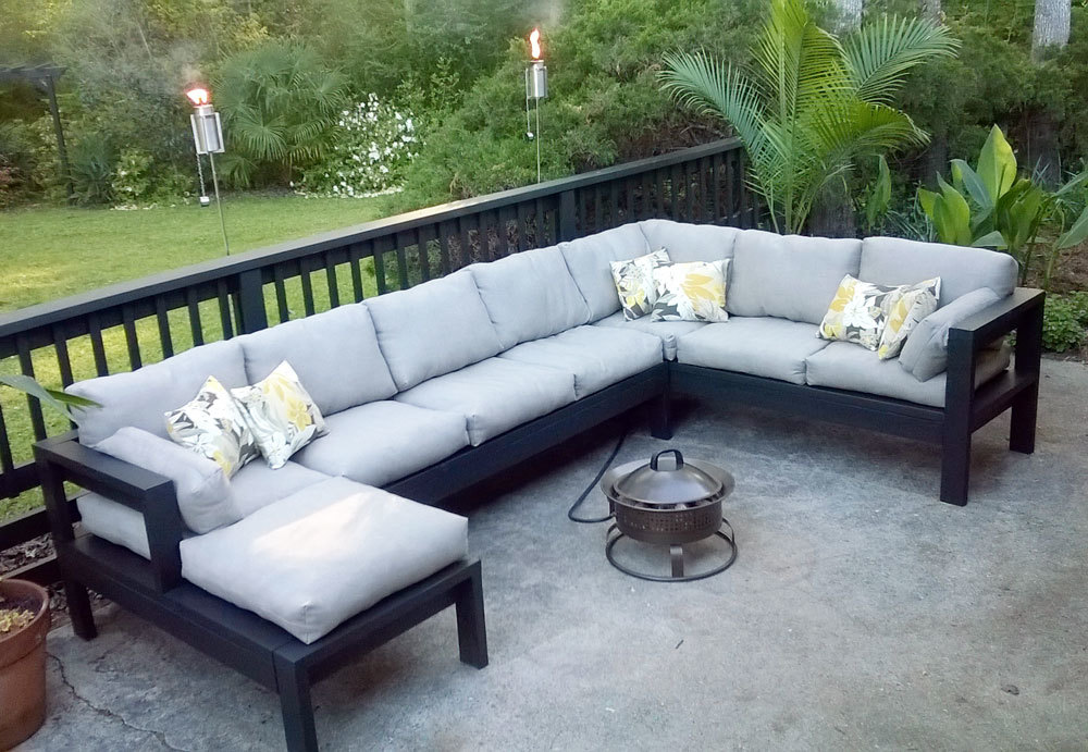 Armless 2x4 Outdoor Sofa Sectional Piece | Ana White