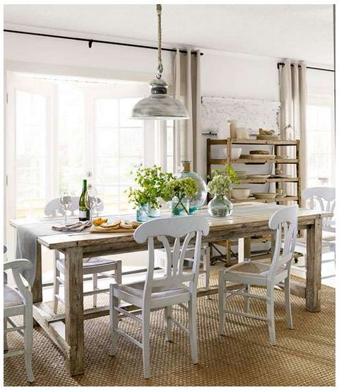 farmhouse table featured in country living magazine