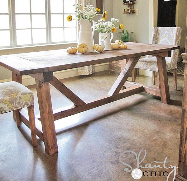 Astonishing 4X4 Truss Beam Table Ana White Machost Co Dining Chair Design Ideas Machostcouk