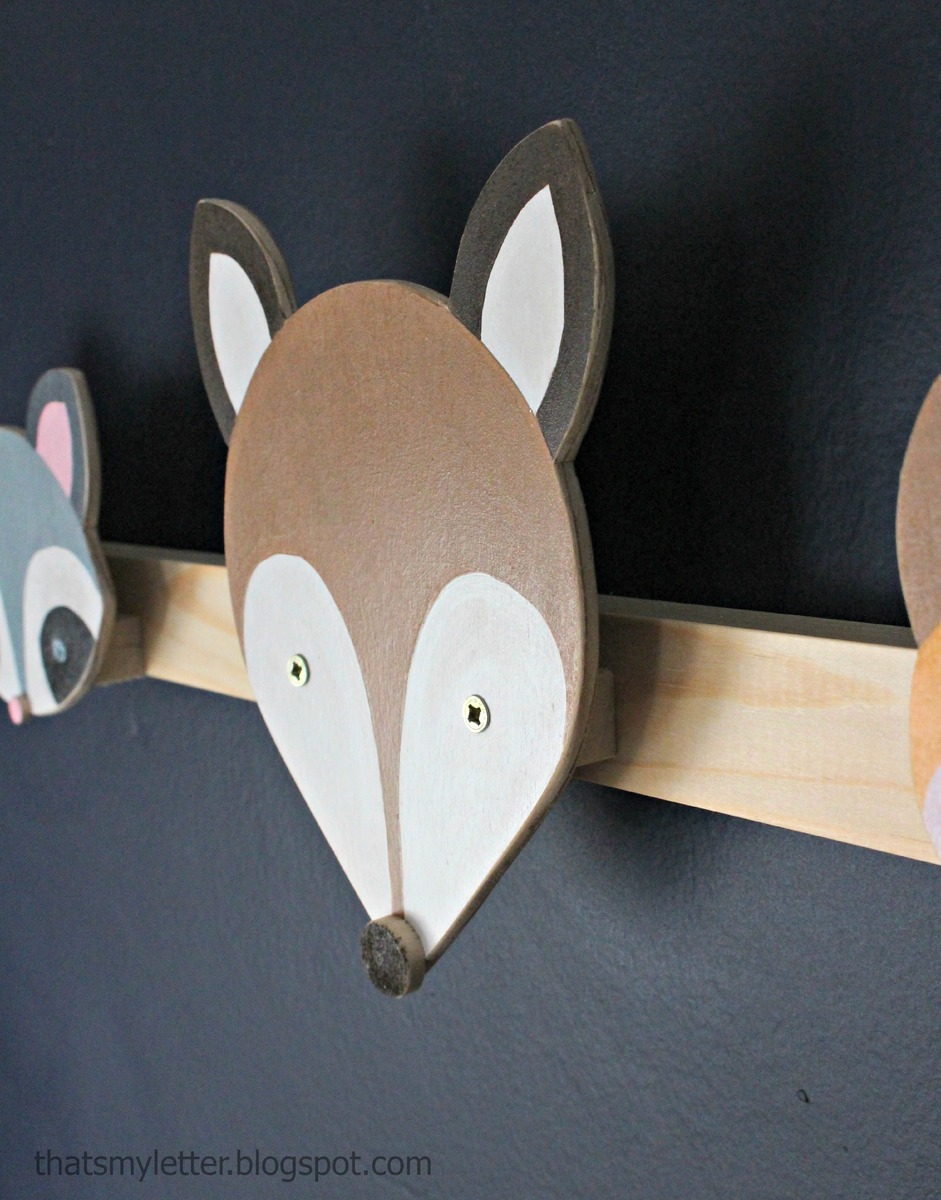 Ana White | Woodland Animal Hook Plans - Deer, Raccoon and Fox - DIY Projects