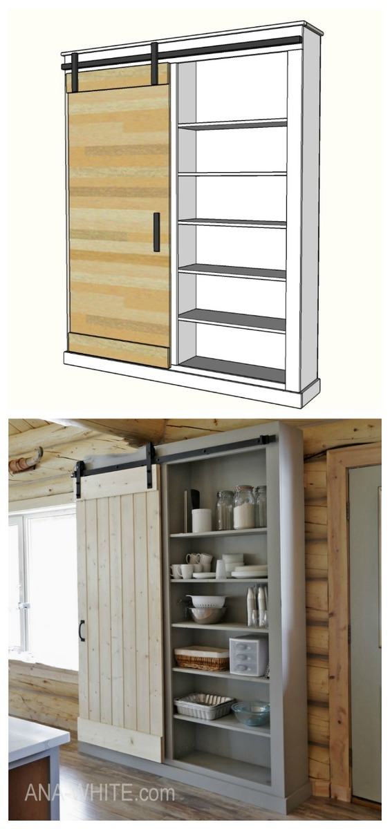 barn door cabinet or pantry woodwork inspiration. Black Bedroom Furniture Sets. Home Design Ideas