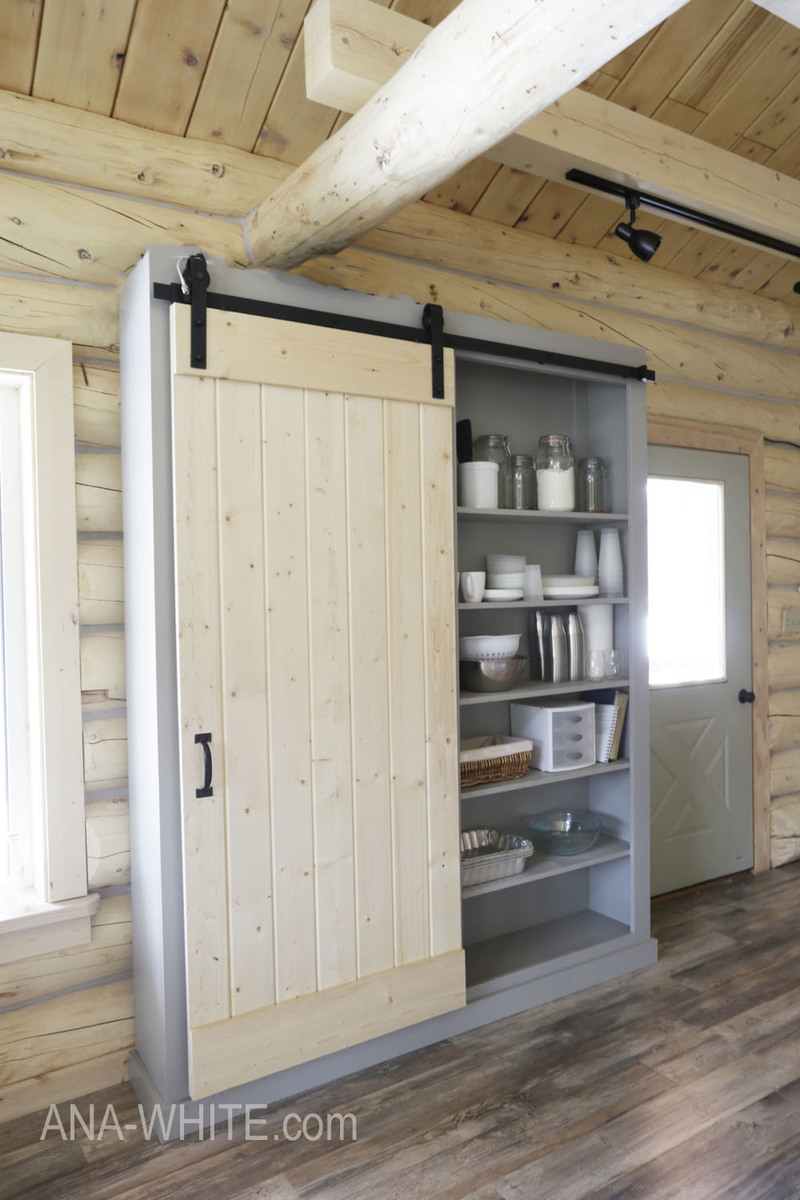 Beau Build A Barn Door Cabinet Or Pantry   Free Plans By ANA WHITE.com