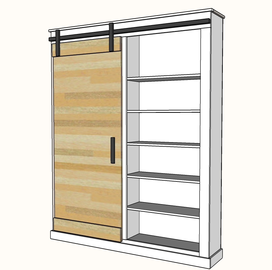 building a pantry cabinet | Barn Door Cabinet or Pantry | Ana White