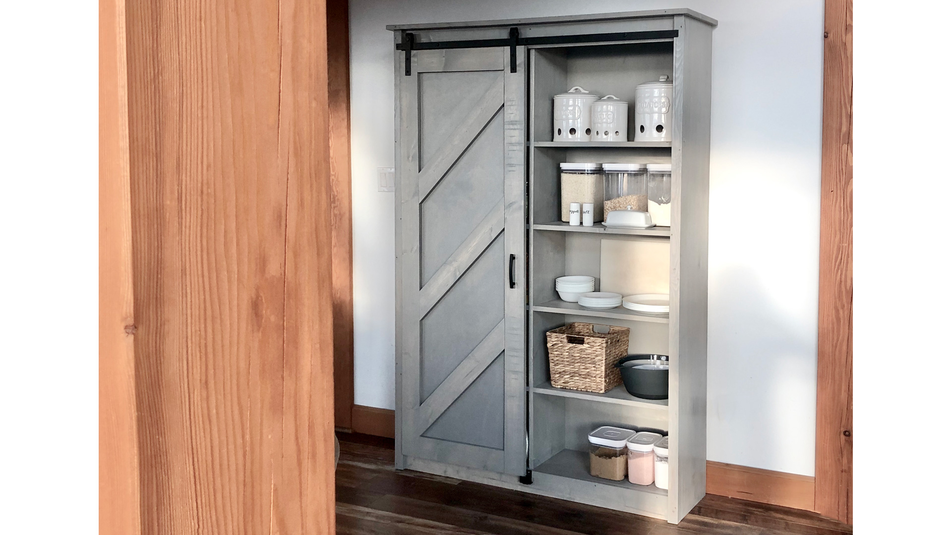 Barn Door Bookcase Ana White