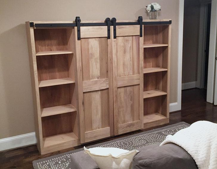 Barn Door Entertainment Center Ana White