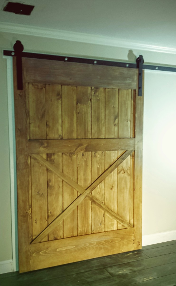 ana white diy sliding barn door diy projects