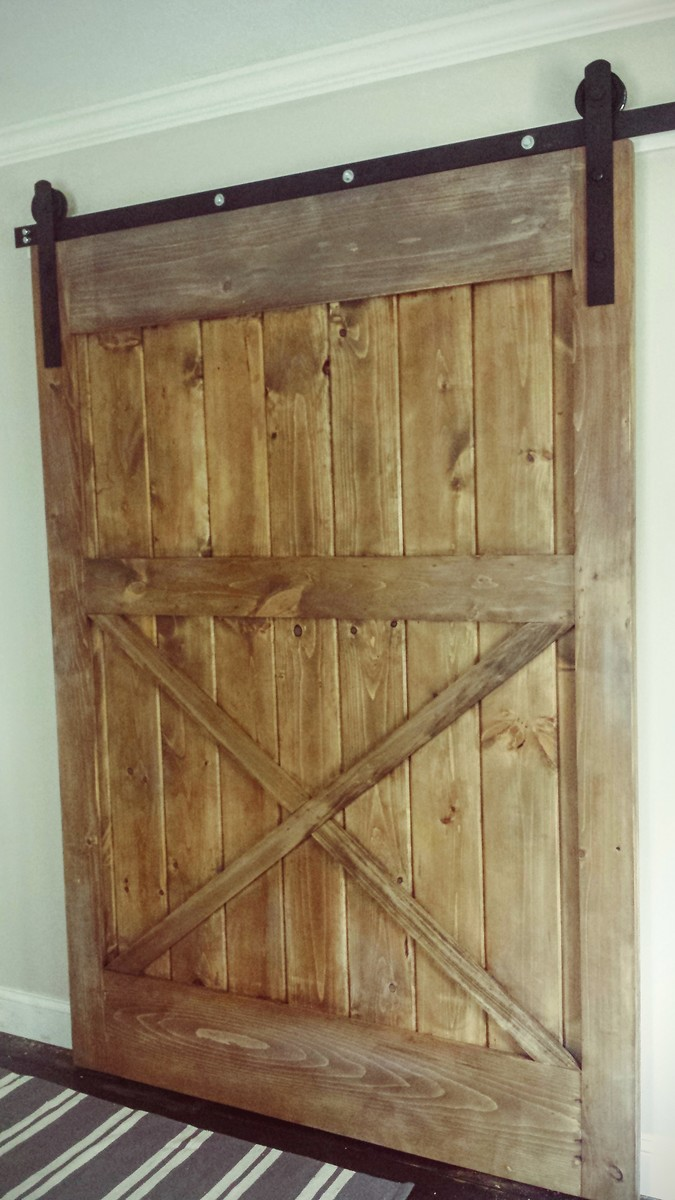 DIY SLIDING BARN DOOR & Ana White | DIY SLIDING BARN DOOR - DIY Projects
