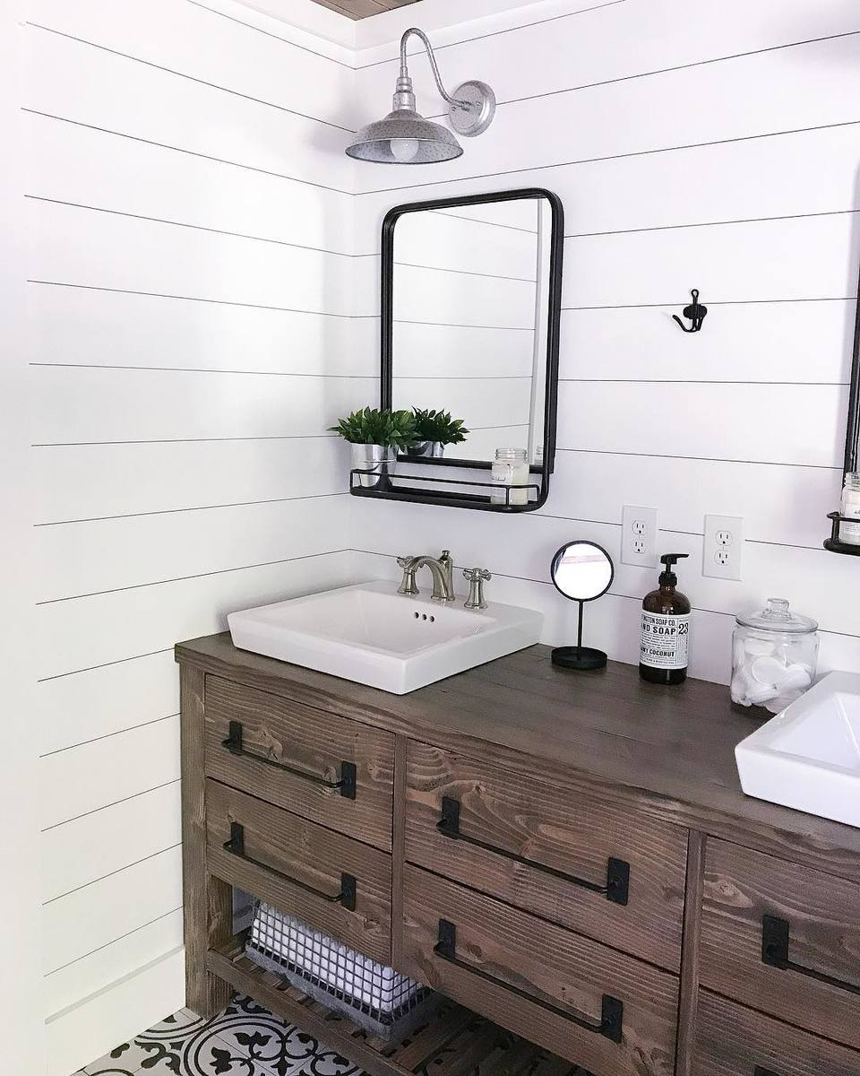Rustic Farmhouse Double Bath Vanity With Angelarosediyhome Ana White
