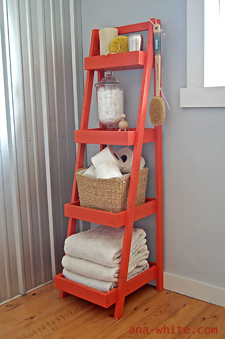 ana white painter s ladder shelf diy projects rh ana white com ladder storage shelves ikea storage ladders shelves