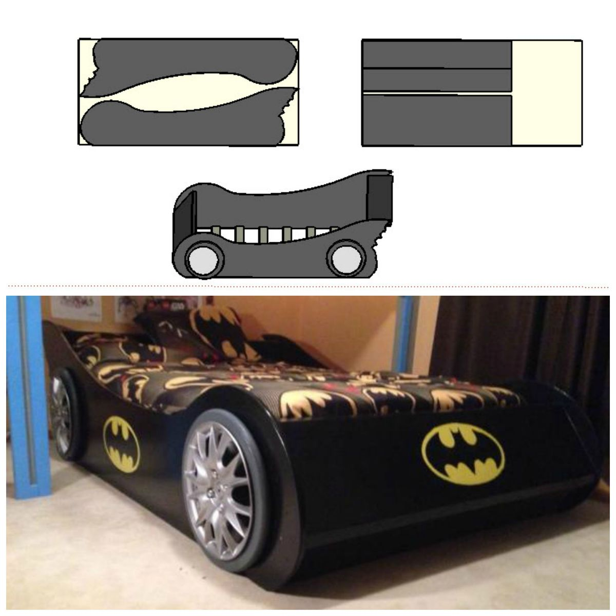 Batmobile Full Bed Ana White