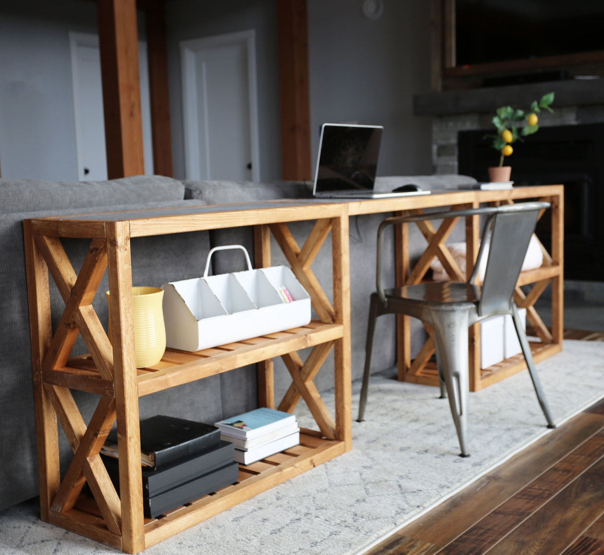 Picture of: 20 Modern Farmhouse Console Table Inspired By Pottery Barn Grove Console Table Ana White