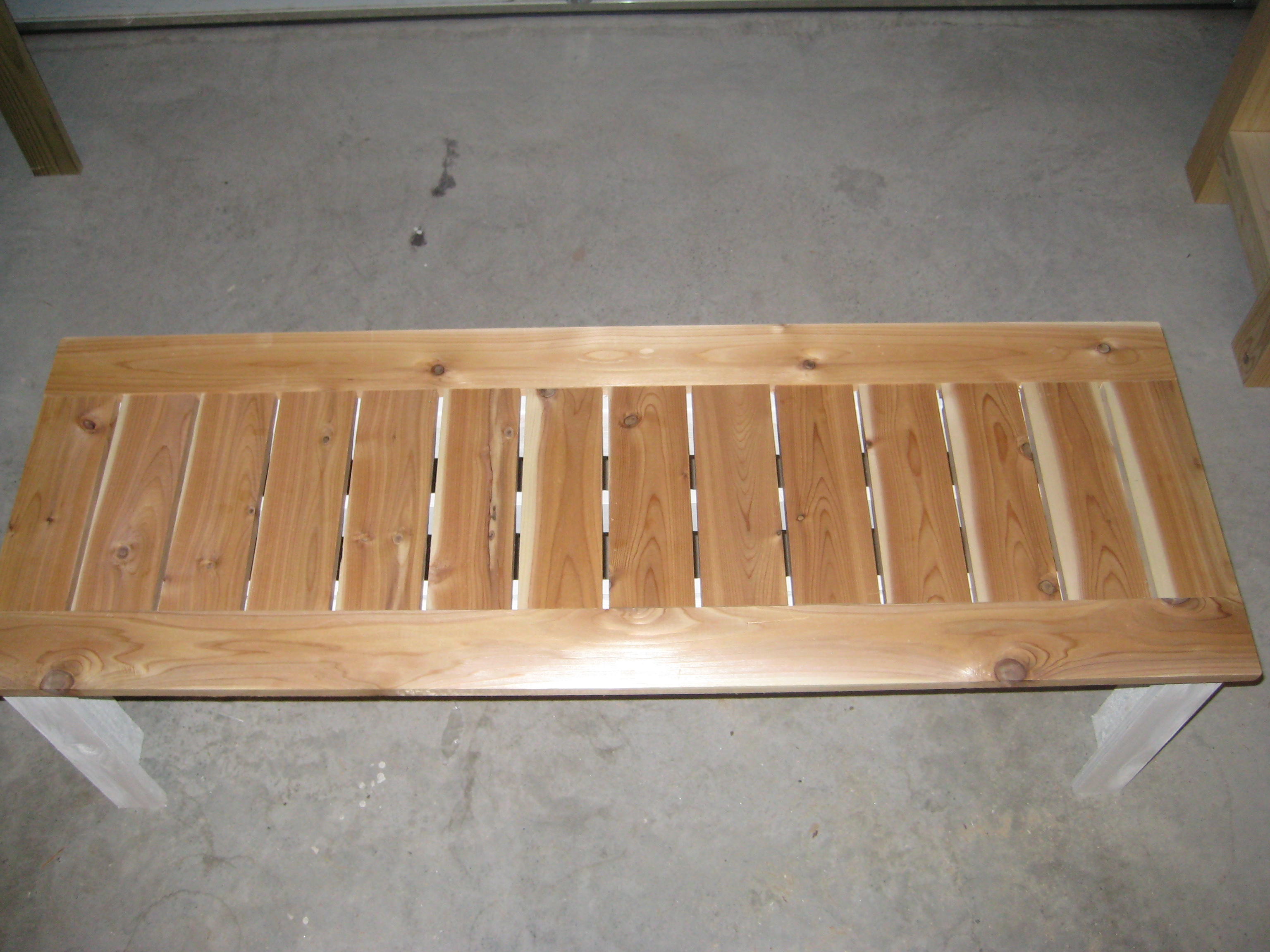 ana white simple outdoor bench with cedar slats diy projects