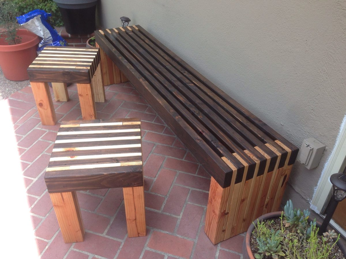 Ana White Bench And Side Tables Diy Projects