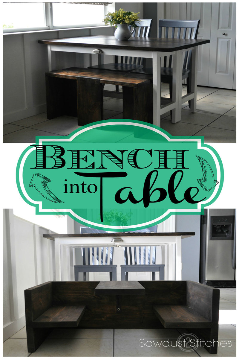 Ana White | Bench that Converts to Toddler Table - DIY Projects
