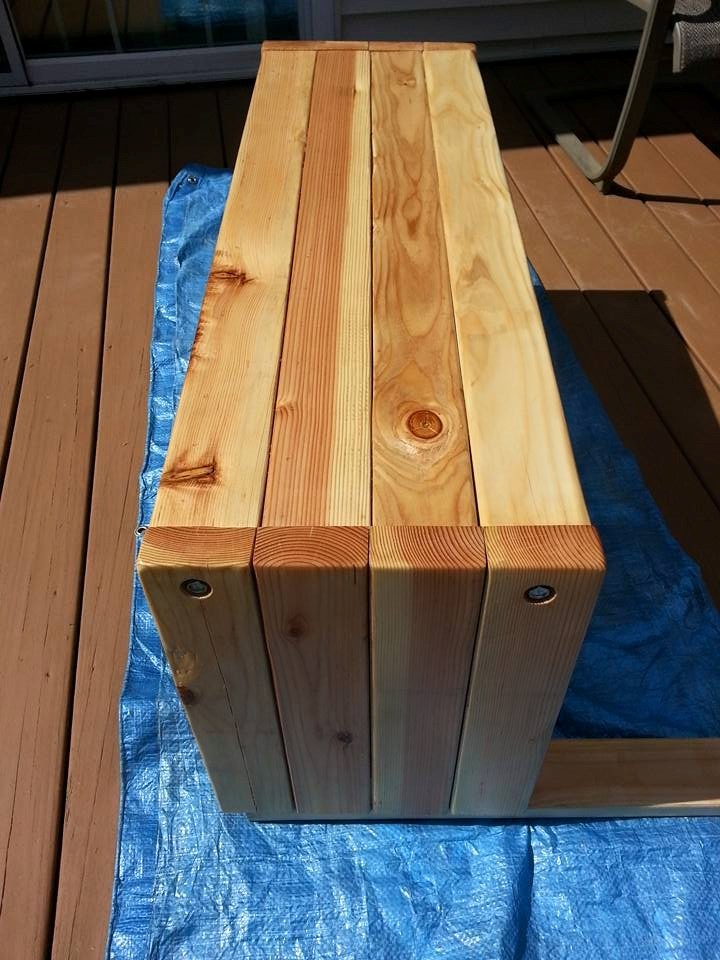 Ana White Rustic 4x4 Bench Diy Projects