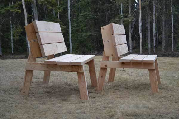 Picnic Table That Converts Easily To Two Separate Benches The Tabletops Rotate Form Bench Backs Detailed Plans Give You Step By Instruction