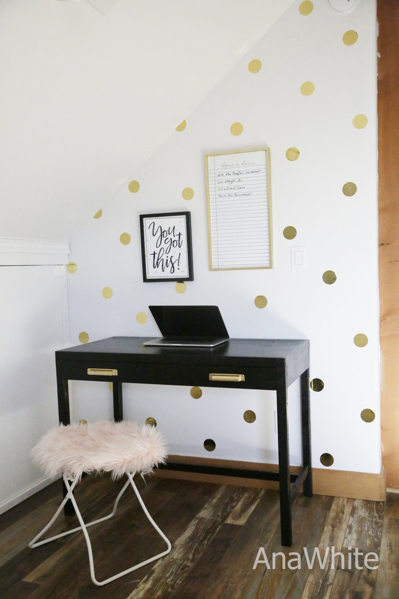 black writing desk plans