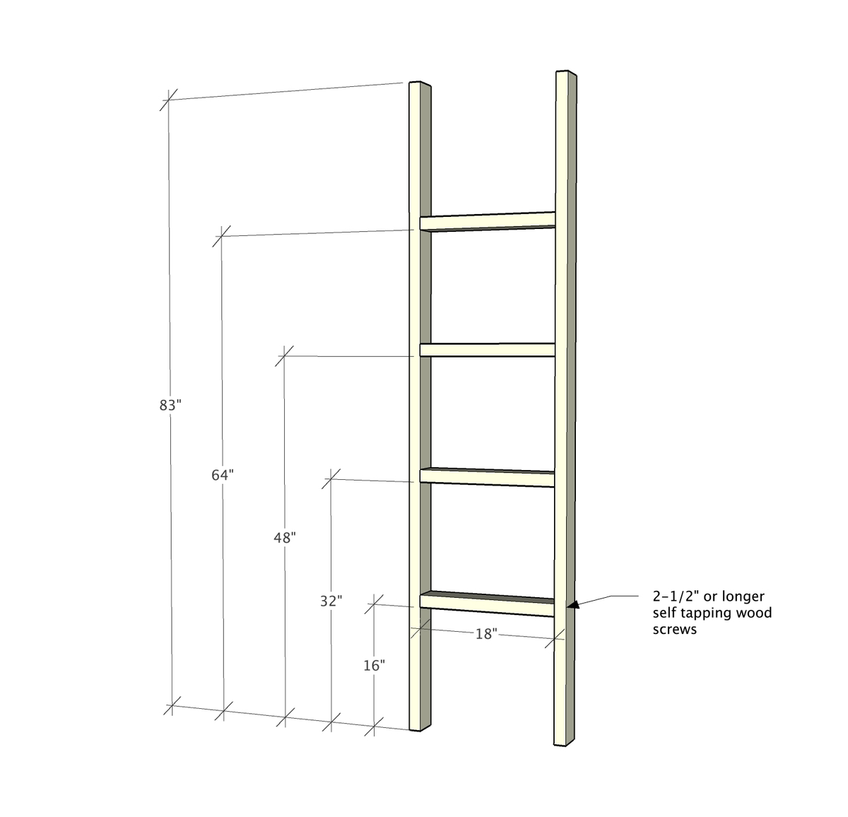 Ana White Blanket Ladder Diy Projects
