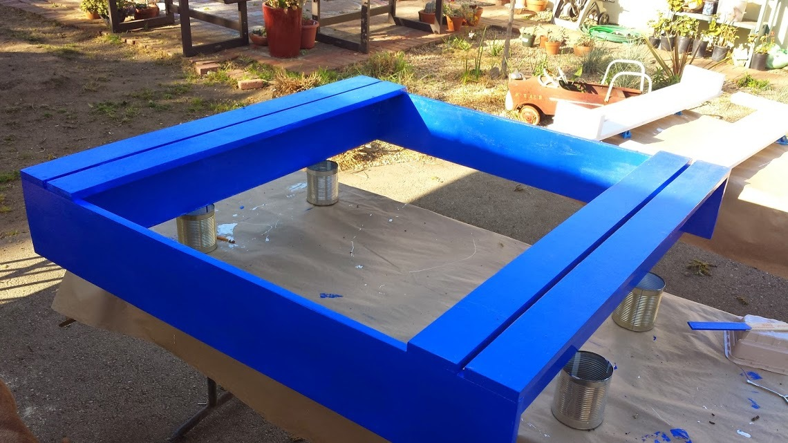 Ana white sandbox with lid diy projects for Sandbox with built in seats plans