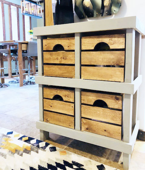 Wood Crate Cabinet