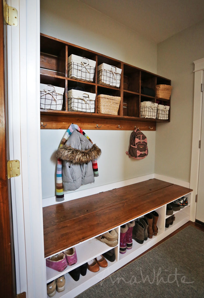 Mudroom Hidden Storage : Ana white extra wide shoe bench diy projects