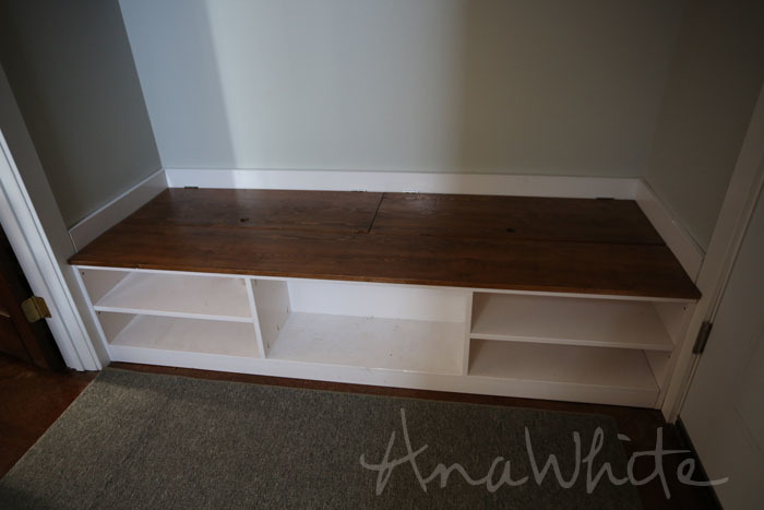 build shoe storage bench plans