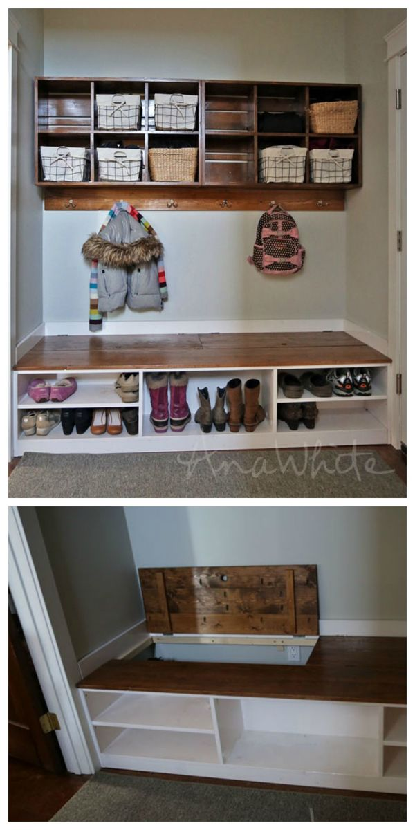 Mudroom Storage Bench : Ana white extra wide shoe bench diy projects