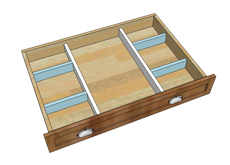 Custom Wood Kitchen Drawer Dividers