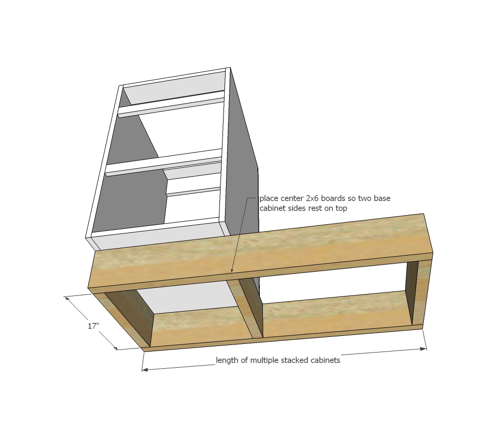 Kitchen base cabinet making - Use The Plywood Panel To Help Square Up The Cabinet Using Factory Edges Where Possible As The Starting Guide Edges